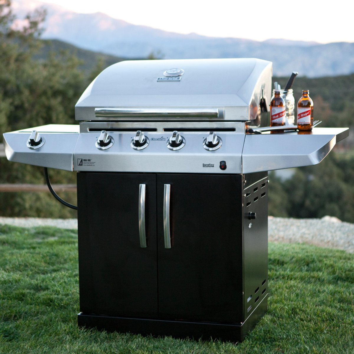 char broil magnum 500 review dual fuel gas grill meet and grill. Black Bedroom Furniture Sets. Home Design Ideas